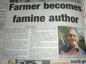 Peak Food author John Gossop  in Goole Times